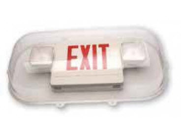 Vandal guard for combo exit sign.