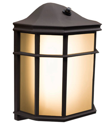 Westgate LED enclosed wall lantern light fixture 3000K