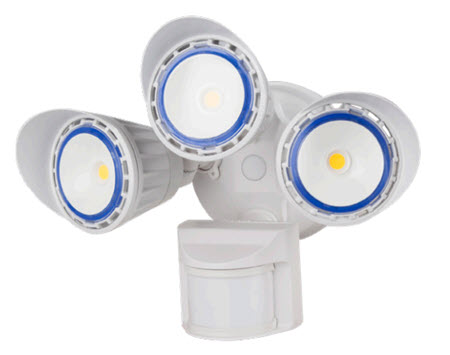 Westgate LED motion sensing white flood light fixture with 30 watts.