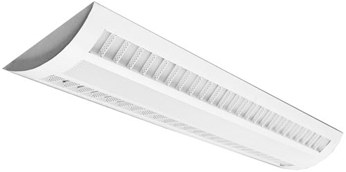 LED Suspended Light Fixture - Louver / Perf Light Fixture - 40/20W - 5000K