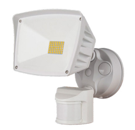 Westgate LED motion sensing flood light fixture with 28 watts - white.